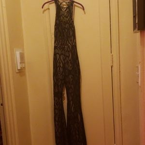 Sexy Black Lace Jumpsuit Halloween